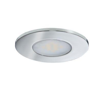 spot a encastrer led diall pour salle de bains ip65 chrome o7 cm