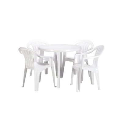 table basic blanche d 90 cm