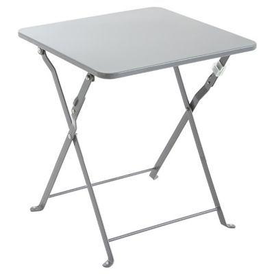 table d appoint saba anthracite pliante 40 x 40 cm