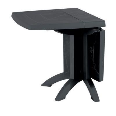 table de jardin en resine vega anthracite pliante 118 x 77 cm