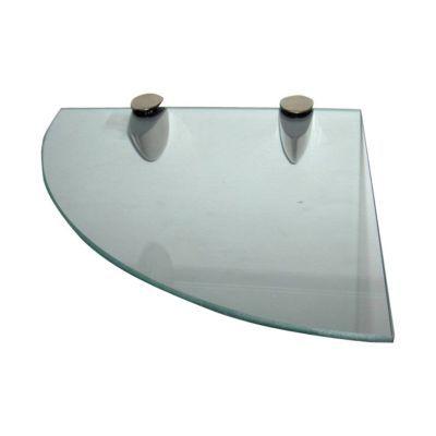tablette d angle verre transparent form 25 cm