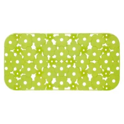 tapis antiderapant de baignoire fleur vert