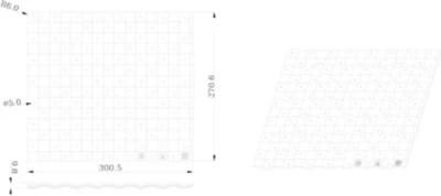 tapis d evier goodhome datil gris l 30 x h 27 cm