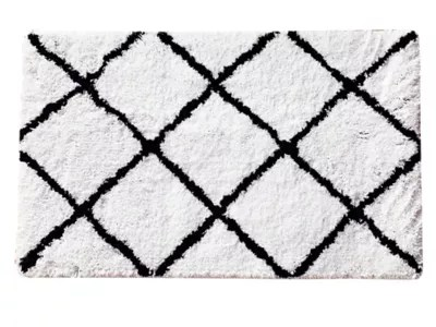 tapis de bain aetna blanc et noir