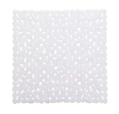 tapis de bain antiderapant blanc 55 x 55 cm batumi