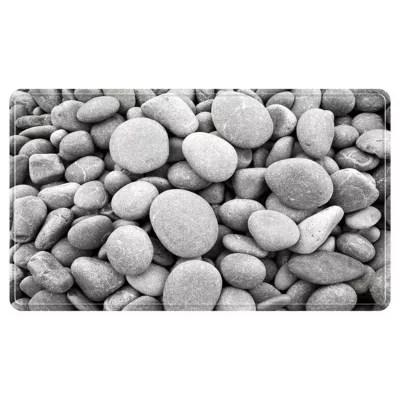 tapis de bain antiderapant gris 52 x 52 cm galets