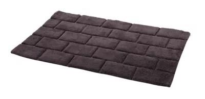 tapis de bain antiderapant gris 60 x 90 cm managua