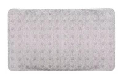 tapis de bain antiderapant gris decor paillete 40 x 70 cm nosara