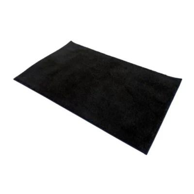 tapis de bain antiderapant noir 50 x 80 cm liao