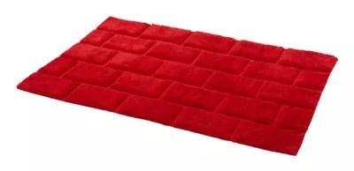 tapis de bain antiderapant rouge 60 x 90 cm managua