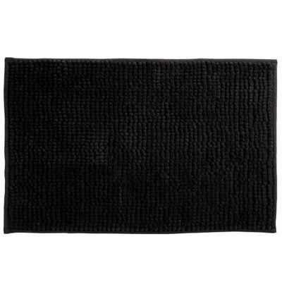 tapis de bain noir 40 x 60 cm