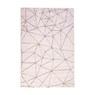 tapis design blanc 100 x 150 cm