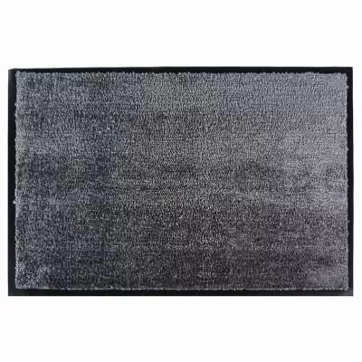 tapis en microfibres gris 60x90 cm avec semelle en pvc