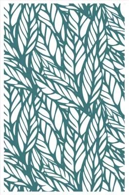 tapis vinyle jungle bleu 98 x 148 5 cm