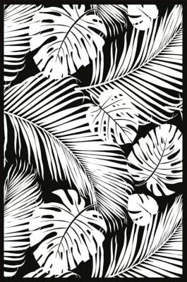 tapis vinyle jungle noir et blanc 98 x 148 5 cm