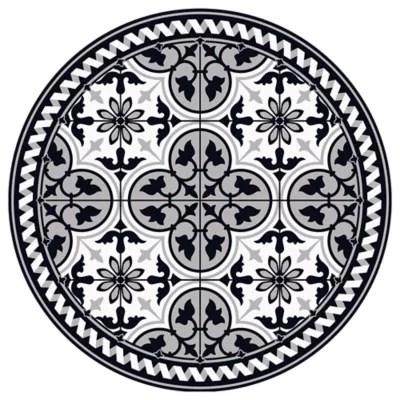 tapis vinyle noir et blanc o99