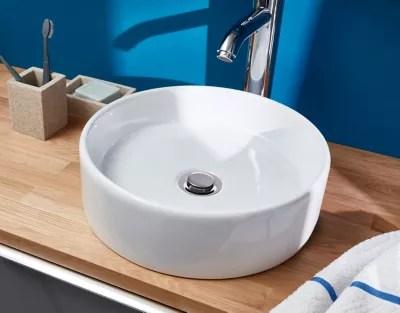 Vasque A Poser Ceramique Blanc Goodhome Scalea Castorama