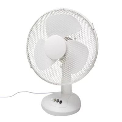 Ventilateur De Table Ft 30eii 2 Oscillation A 80 3 Vitesses Blanc Castorama
