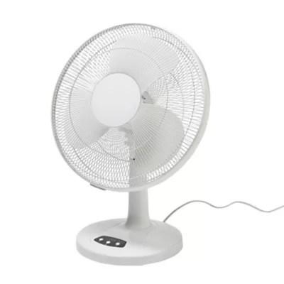 ventilateur de table ft40 11ns 2 oscillation a 70 3 fonctions 3 vitesses blanc