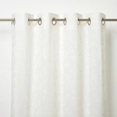 voilage goodhome miri blanc 280 x 260 cm