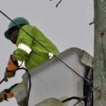 Power outages continue due to pole damage