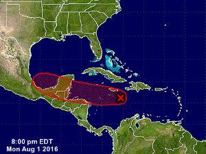 tropical wave 1 Aug