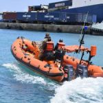 UK Navy brings new rescue boat for fire service