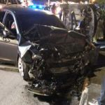 Four people injured in three car pile up