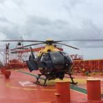 Police chopper rescues injured tanker crew member