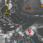 TS Kirk re-emerges again over western Atlantic