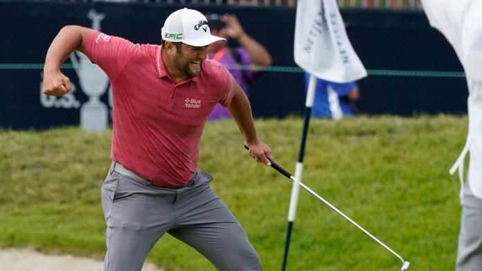 Rahm closes with two birdies to win U.S. Open