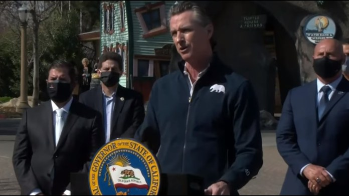 Newsom: If COVID-19 trends continue downward, fans could return to stadiums in time for baseball season