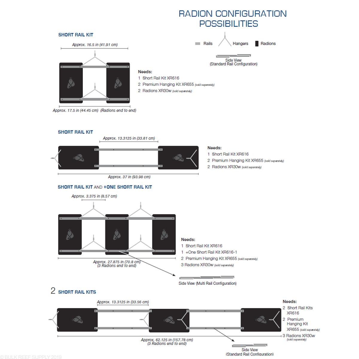 Ecotech Marine Radion Xr30w One Short Rail Kit