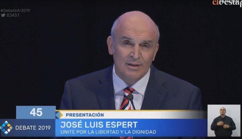 Resultado de imagen para Jose Luis Espert Debate 2019