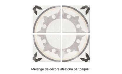 Carrelage Epoque Aspect Carreau Ciment Decor Dim 20 X 20 Cm Saint Maclou