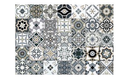 tapis vinyle allegra motif patchwork