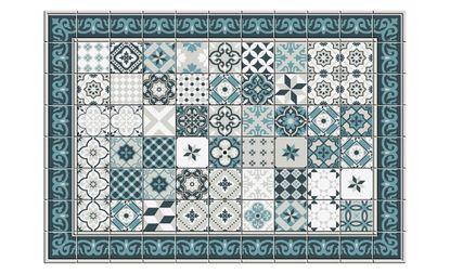 tapis vinyle tenor motif patchwork