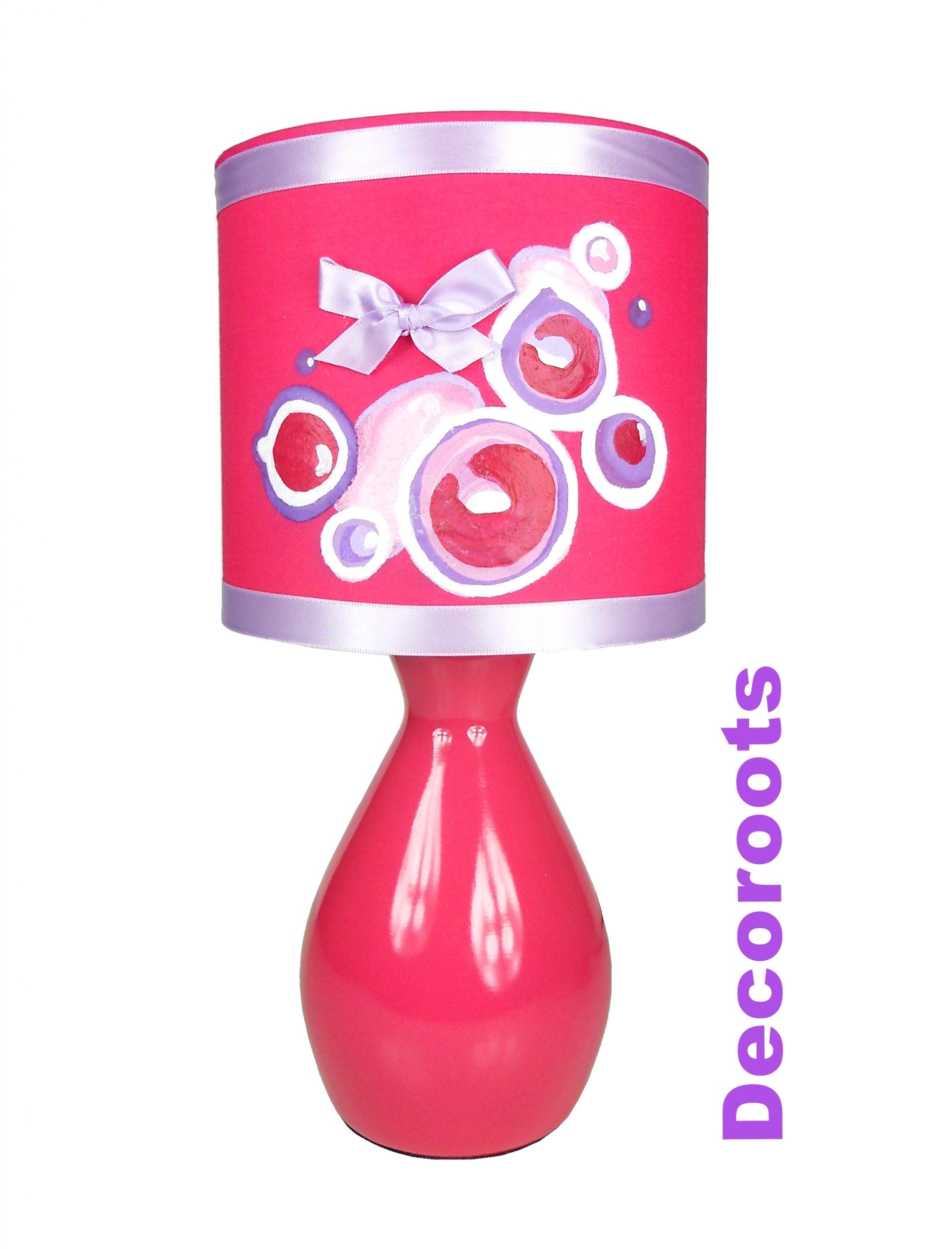lampe de chevet design bulles pop enfant fille