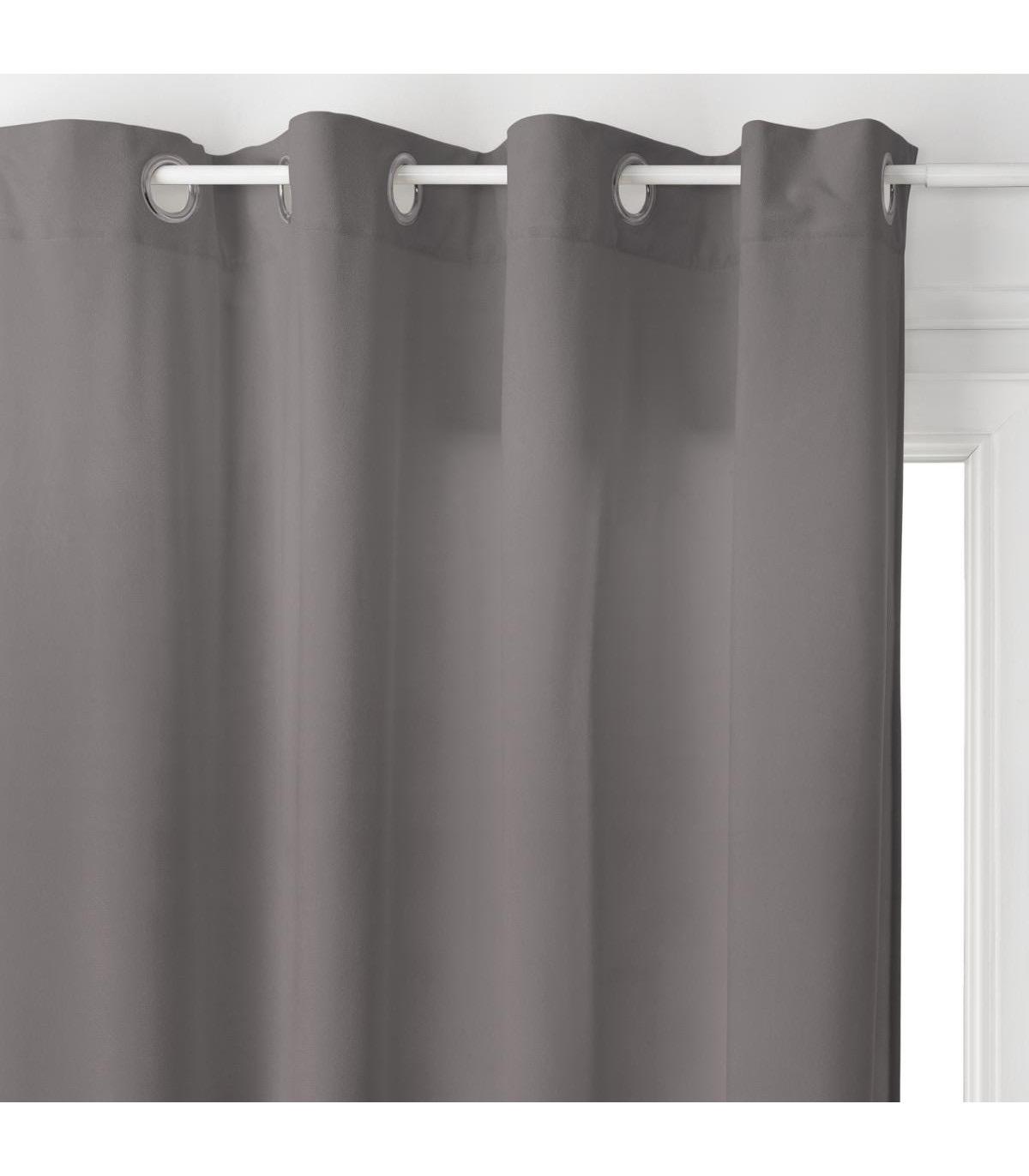 rideau lilou gris fonce 140x260