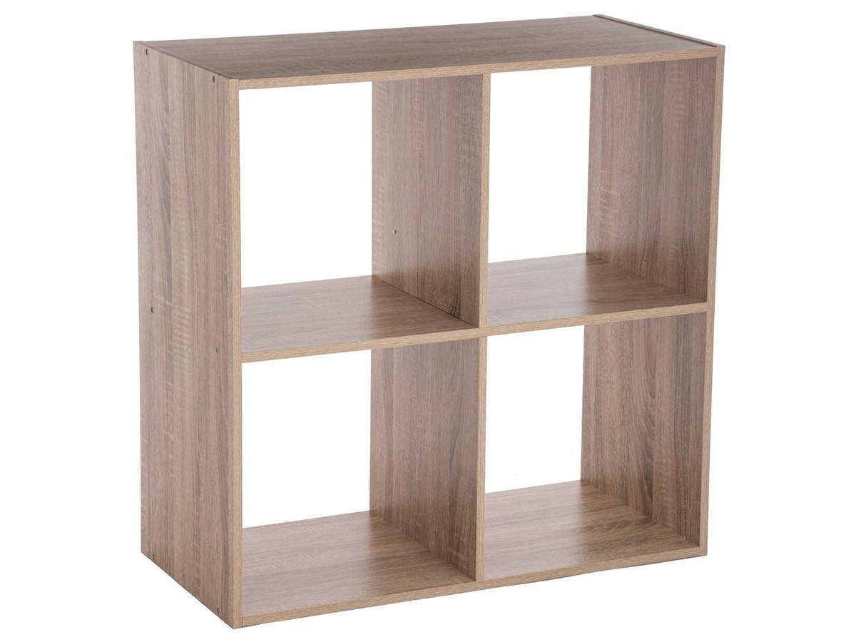 etagere en bois 4 cases mix n modul naturel