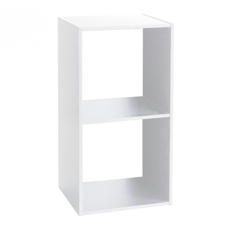 etagere en bois 2 cases mix n modul blanc