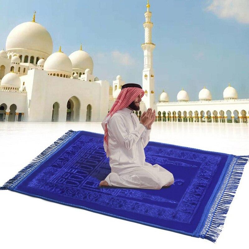 tapis de priere islamique epais et doux pour vip imprime
