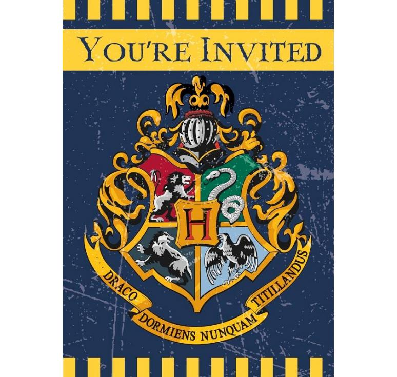 8 invitations harry potter