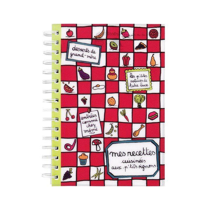 Cahier de recettes - Aux p'tits oignons  Filf : 6,50€