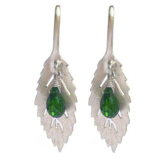 Boucles d'oreilles Menthe Tsavorites  Diane de Navacelle : 260€