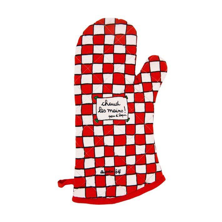 """Gant de cuisine """"Chaud les mains ! Peau d'lapin""""  Filf : 8€"""