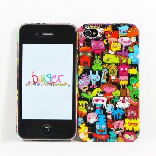 Etui Iphone Burgerdoodles 4/4S - Doodle : 16.00€ sur DesignfromParis.com