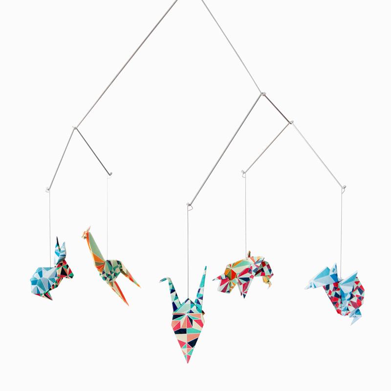 Mobile animaux origami -Mosaïque sur DesignfromParis.com
