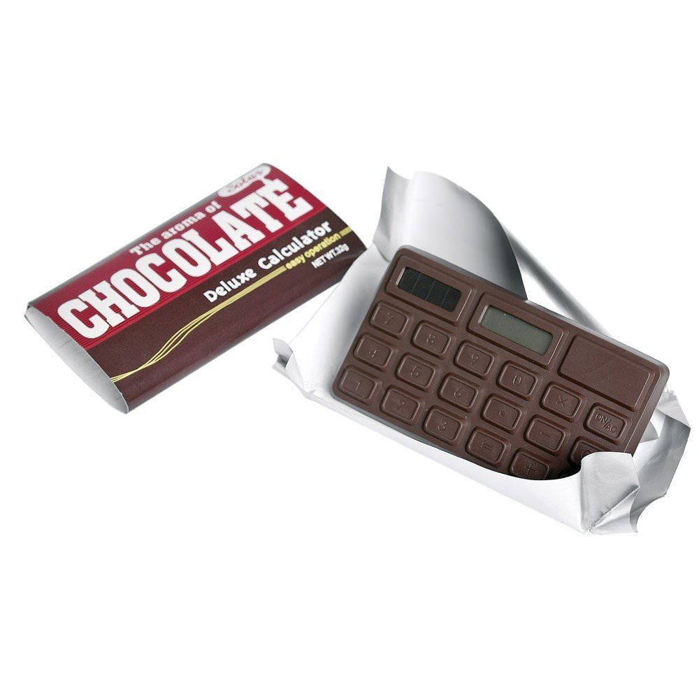 Calculatrice chocolat  Rex : 6€