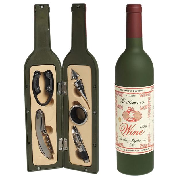 Set sommelier 5 accessoires - Bouteille de vin  Rex :20,90€